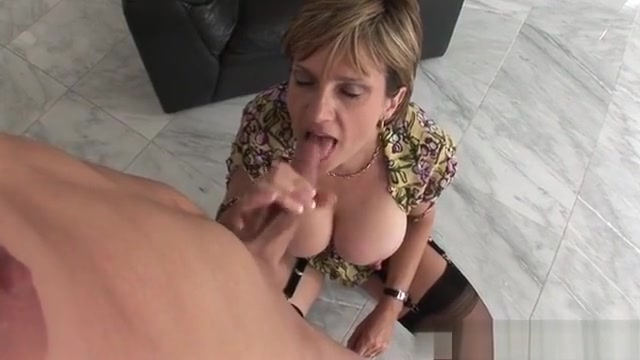 Big Tits Mature Handjob With Orgasm Triangle top bikini