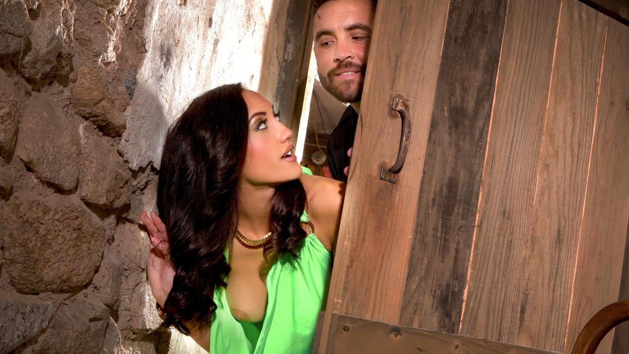 Chloe Amour & Daniel Hunter in Prey For The Dying, Scene 5 men s denim bell bottoms