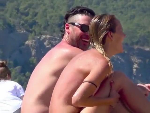 Ibiza Spain incredible GIRLS puffy beach topless part 1